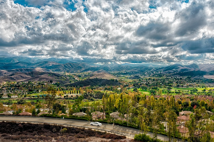Clouds over the Simi Valley, California
