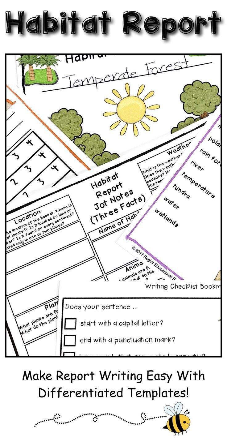 Habitat Activities Habitat Research Project Report Writing