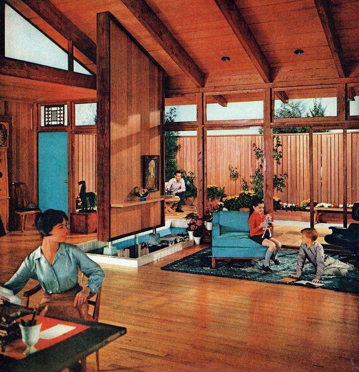 Living Room Design For The National Lumber Manufacturers Association 1959