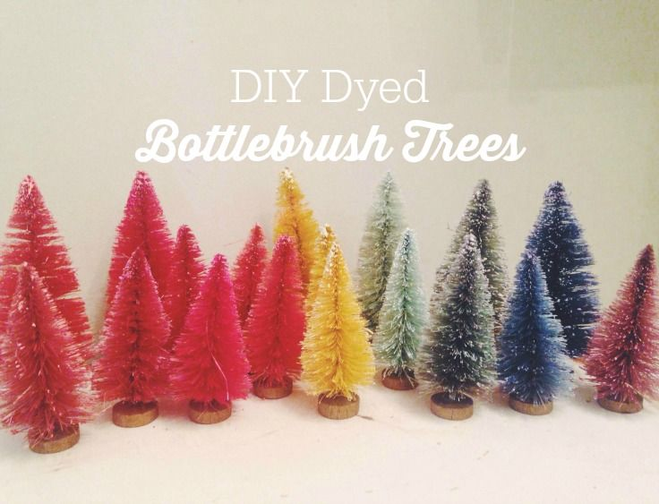 DIY Dyed Bottlebrush Trees! This entire project cost $10 to make! #creativemamas
