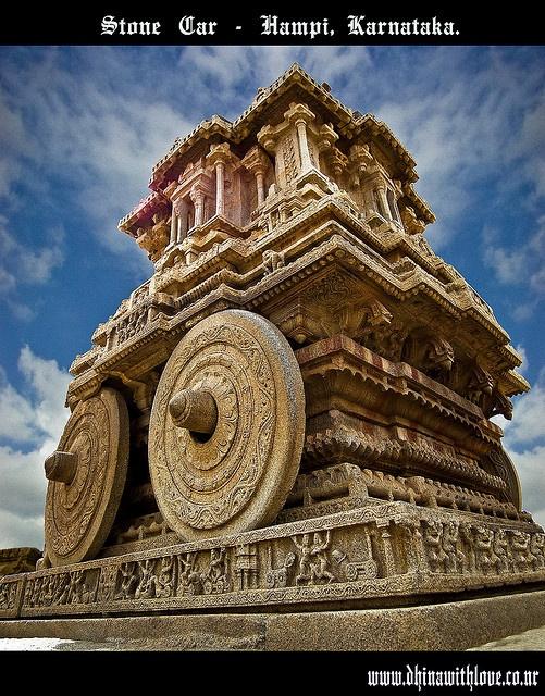 Stone Carriage - Hampi, Karnataka, India, by Bharathi mainthan, via Flickr
