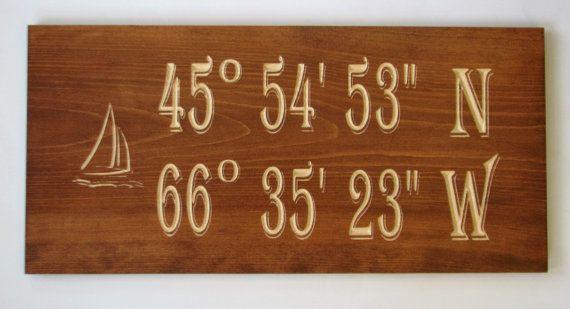 Stained Longitude Latitude Sign Custom by RCOriginalsGallery
