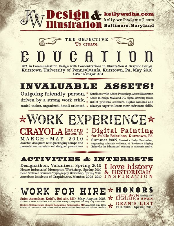 92 best Portfolio  Resume images on Pinterest Resume templates - Examples Of Resumes For Restaurant Jobs