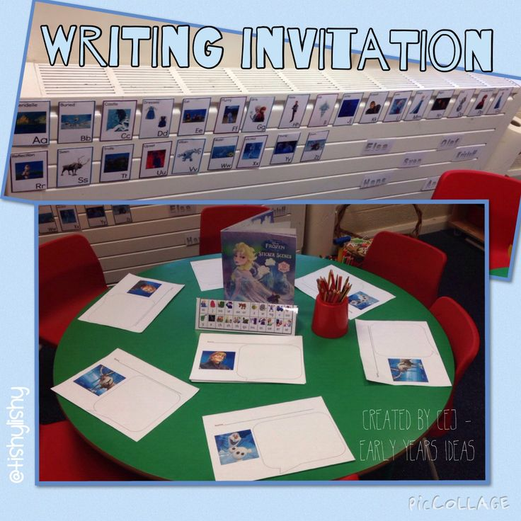Ideas for writing activities eyfs