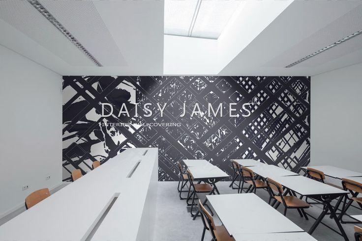 "DAISY JAMES wallcover ""The Diagonal"" #interiordesign #Luxuryhouses #officedesign"