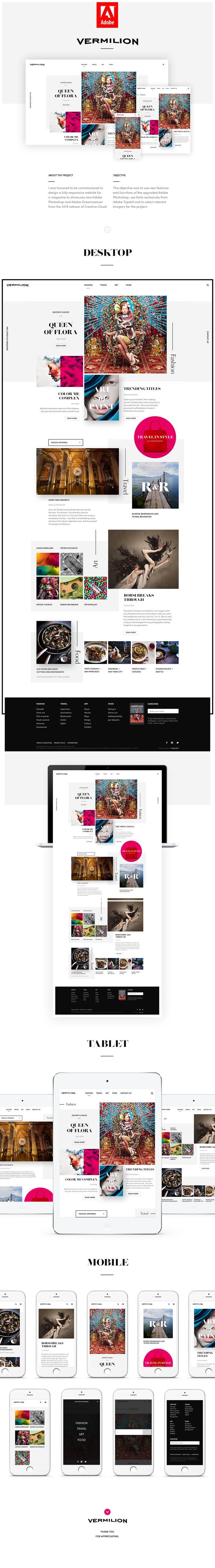 Vermilion — Responsive Demo Website for Adobe on Behance