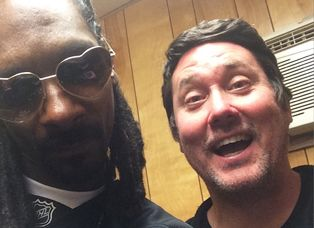 """Top CelebStoner Doug Benson got to hang out backstage with Snoop Dogg at the Pemberton Music Fest on July 19. """"Dreams come true,"""" pot comic Benson tweeted. """"Finally had a sesh with Snoop Dogg!"""""""