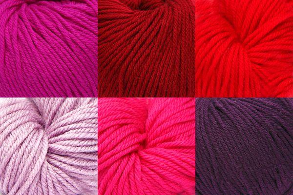Colour Pack, Shepherds Delight in Artesano Superwash Merino DK Wool #dk #doubleknit #doubleknitting #colourpacks #superwash #knitting #crochet #weaving #weave #felting #merino #yarn #wool #merinowool #puremerino #redskyatnight #shepherds #reds #red #sunrise #sunset