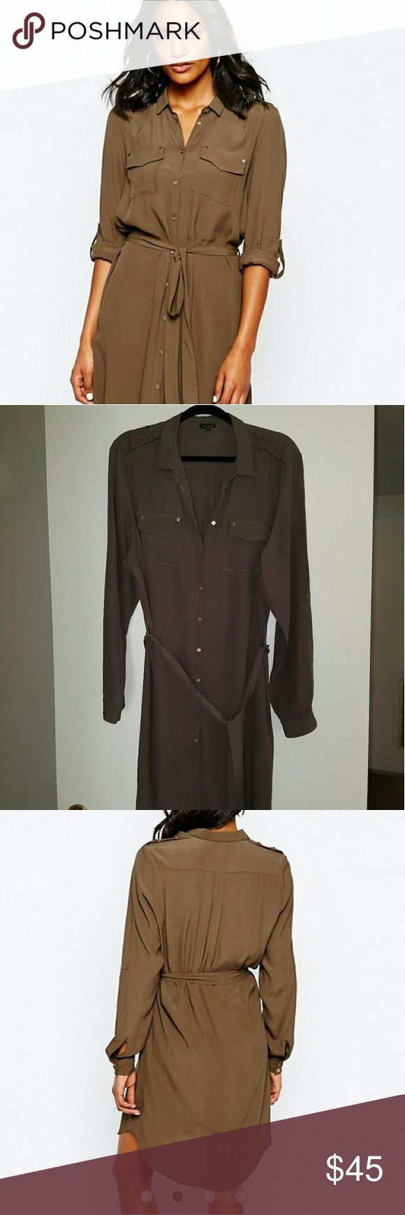 River Island Military Shirt Dress From ASOS.com. ONLY WORN ONCE River Island Dresses Long Sleeve