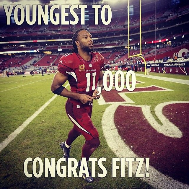 Congratulations to AZCardinals WR Larry Engel Fitzgerald, the youngest player in nfl history to collect 11,000 career receiving yards. azlottery photooftheday LarryFitzgerald