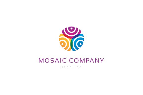 Mosaic company logo. by anton.akhmatov on @creativemarket
