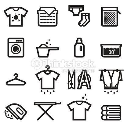 Arte vetorial : Laundry Icons