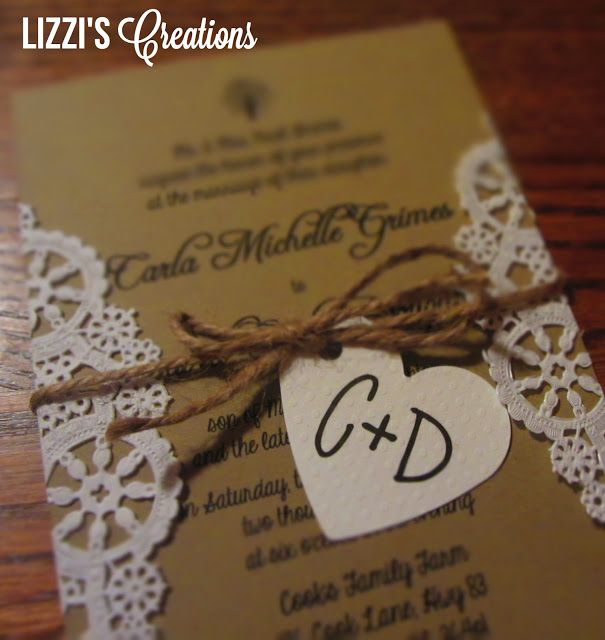 lizziu0027s creations project wedding invitations and programs i like this idea a lotpaper doilies and cardstock cheap and cheerful