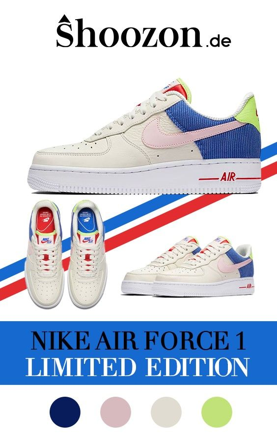 finest selection d224f bd9e9 Damen Sneaker - Nike Air Force 1 - in Blau, Pink, Rot, Grün