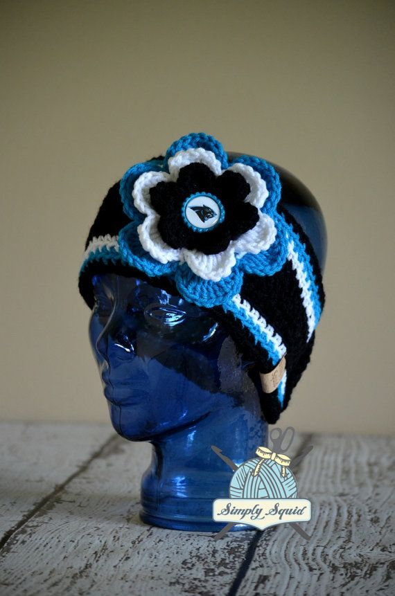 READY TO SHIP  Teen/Adult Carolina Panthers by SimplySquid on Etsy, $25.00