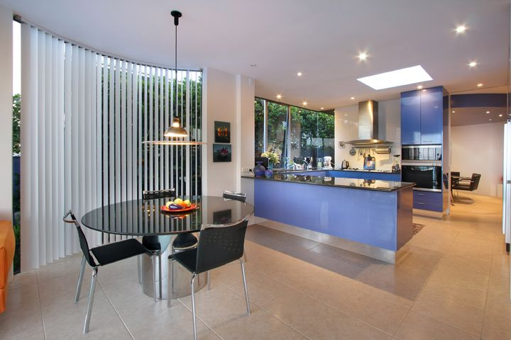 Murrays Bay House kitchen in blue