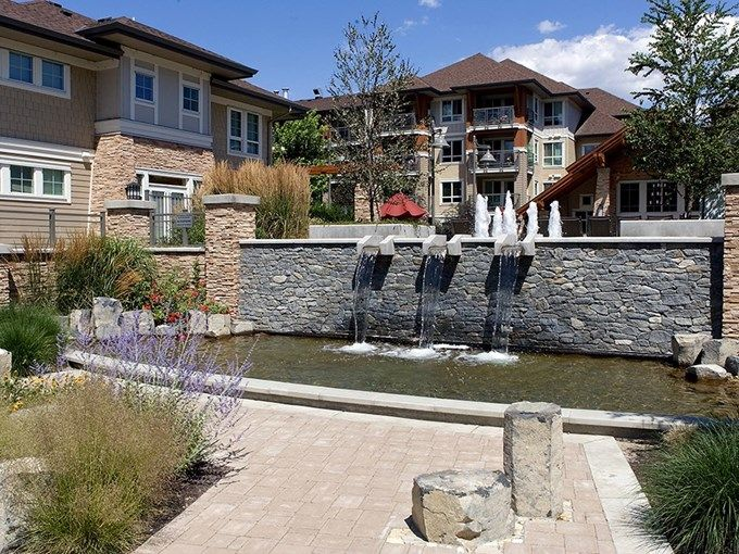 Condominium for Sale - 206 - 1083 Sunset DR, Kelowna, BC V1Y 9Y9 - MLS® ID 10093025. 2 Bed, 2 Bath at Waterscapes, Steps away from Okanagan Lake/Beach, Boardwalk & the Downtown Cultural District. Amenities include an outdoor pool, garden court yard, 2 hot tubs, billiards room, and fully equipped gym.