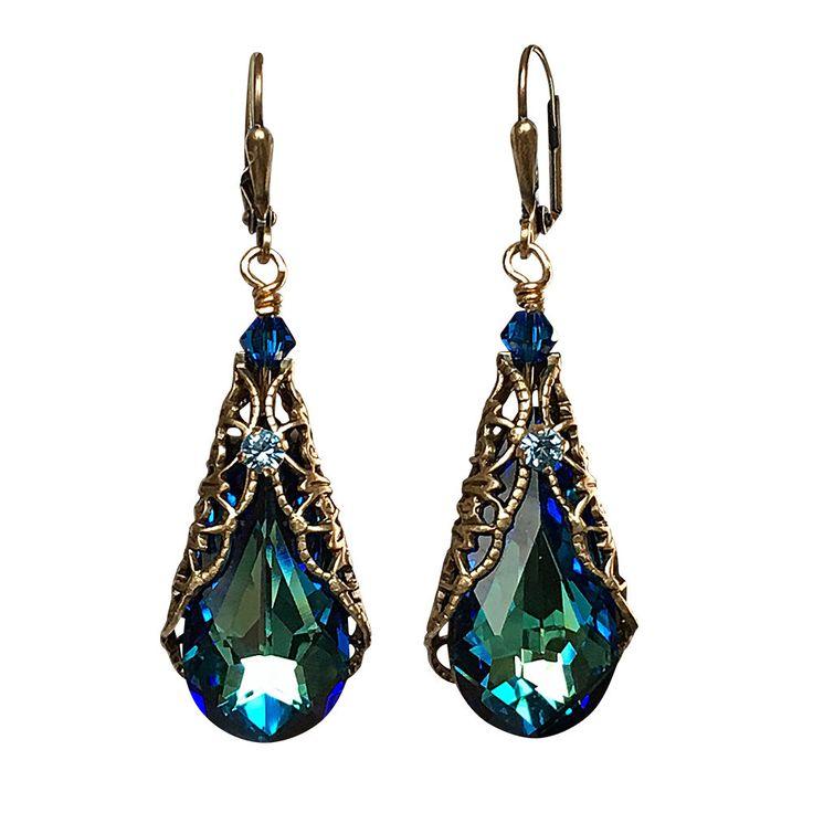 A personal favorite from my Etsy shop https://www.etsy.com/listing/123064774/vintage-earrings-crystal-earrings