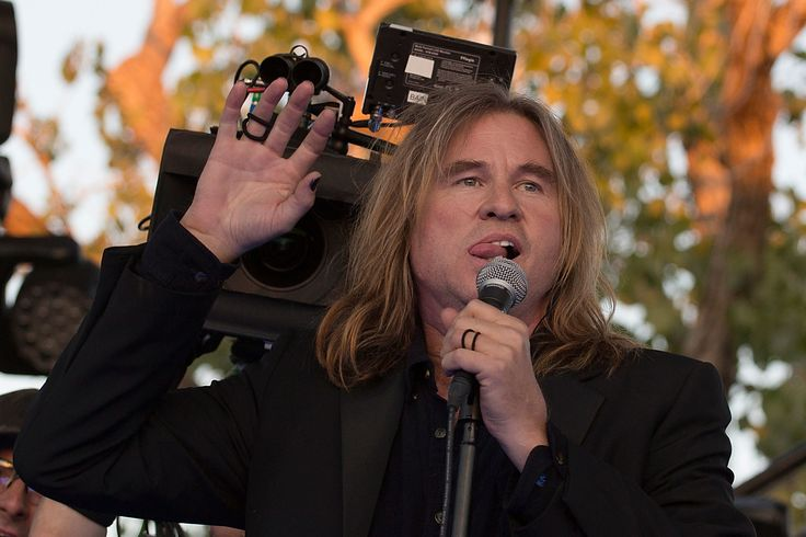 AUSTIN, TX - NOVEMBER 02:  Actor Val Kilmer acts on stage while filming the new Terrence Malick movie during day one of Fun Fun Fun Fest at Auditorium Shores on November 2, 2012 in Austin, Texas.  (Photo by Rick Kern/WireImage) via @AOL_Lifestyle Read more: http://www.aol.com/article/entertainment/2016/11/16/val-kilmer-michael-douglas-cancer-note/21607360/?a_dgi=aolshare_pinterest#fullscreen