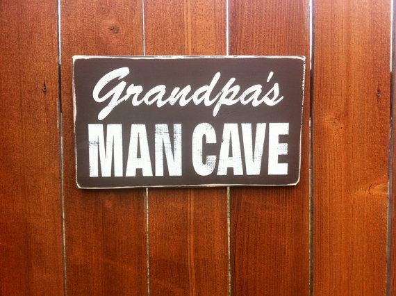 Man Cave Signs For Garage : Grandpa s man cave sign papa holiday gifts
