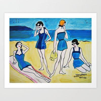 Wasaga Beach Art Print by Patti Friday