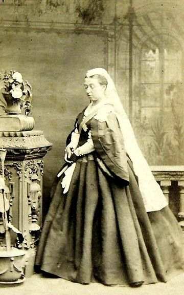 I have never seen this image of Queen Victoria. Pity its all blurry  Circa Mids 1860s.