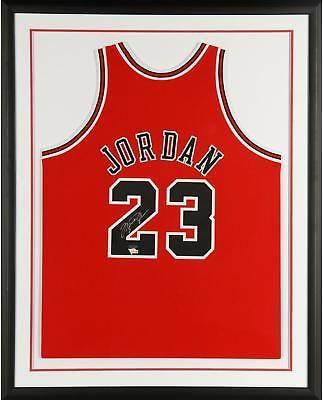 43108195bafc53 Michael Jordan Bulls Framed Signed 97-98 Mitchell   Ness Red Jersey - Upper  Deck  Basketball