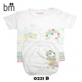 Kode : 0221 B Harga : Rp. 36.000 Merk : Costly L,Oblong Tangan Pendek+Celana Segi 4 Print Size : Size L u/ usia 1-2 Tahun