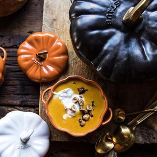 GIVEAWAY  celebrating you guys and all the support you show Half Baked Harvest today with an @staub_usa cast-iron Pumpkin Cocotte and 4 mini ceramic Pumpkin Cocotte's. Everyone LOVED these in my last video, so I thought I'd share one of my favorite pots with you guys! I use this cocotte all the time and it's also perfect for Thanksgiving. Good luck and happy fall!  To Enter (ends 10/22): 1. follow @halfbakedharvest 2. tag a friend in the comments, each friend tagged counts as an additi...