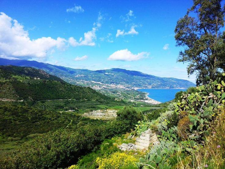 vista panoramica da Tindari ,Sicilia
