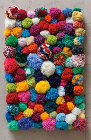 Pom pom Rug Inspiration from Pinterest. If youu0027d like to make one yourself,  check out this great tutorial @
