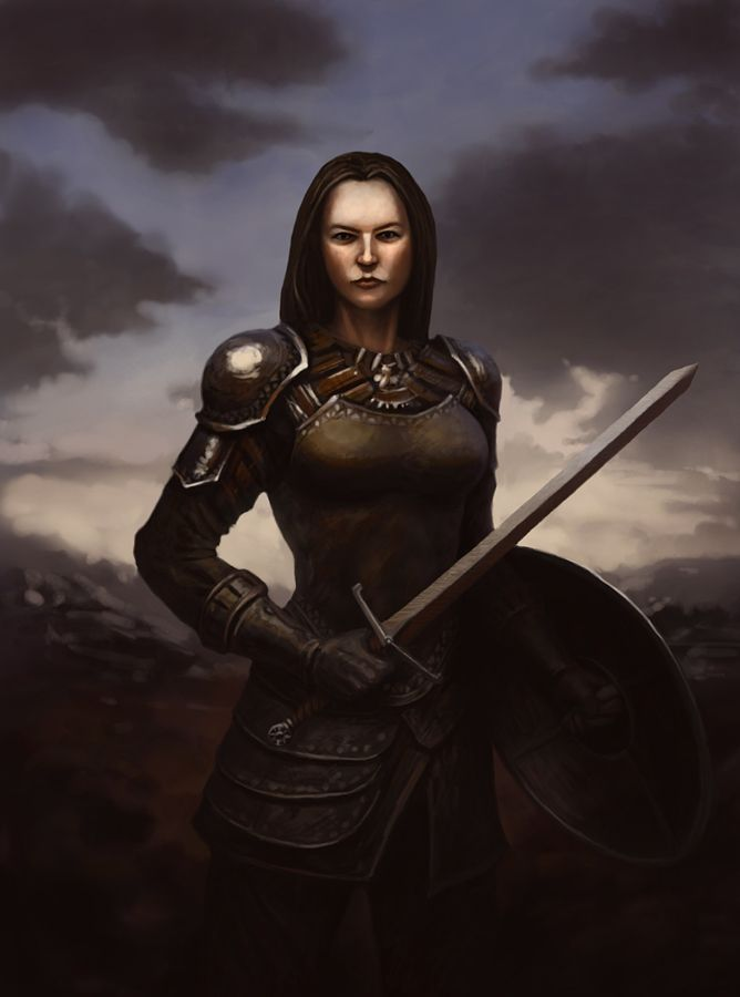 17 best images about female warriors in sensible armour on - Fantasy female warrior artwork ...