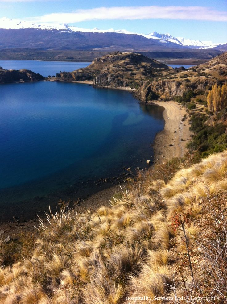 Photo: Hospitality Services Ltda - Copyright © North view of Austin's Beach, Isla Macías, General Carrera Lake, Aysén, Chilean Patagonia.