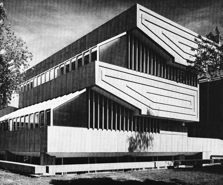 Art Centre, Central Technical School, Toronto, Canada, designed by Fairfield and Dubois, 1961