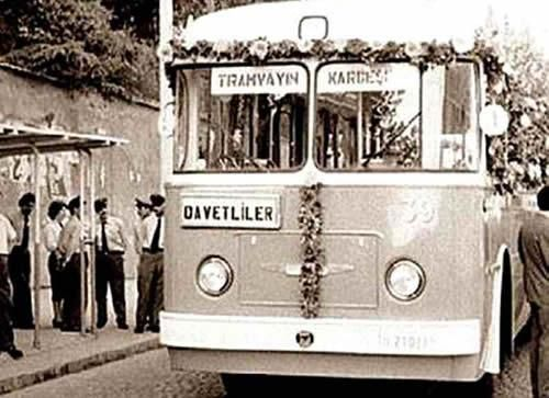 "#Şişli ilk ""#troleybüs"" seferi, 1961"
