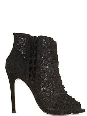 KAREN MILLEN Lace heeled sandals