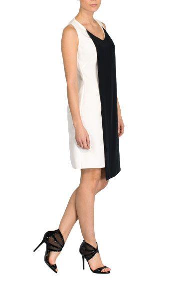 Vestido blanco y negro de Lesmoking