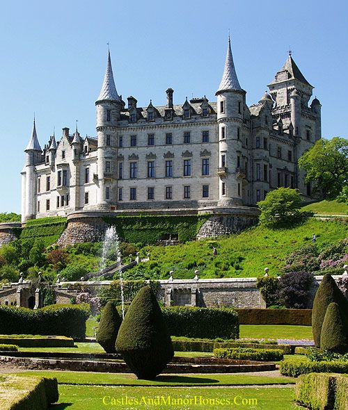 Dunrobin Castle, north of Golspie, Highland area, Scotland.