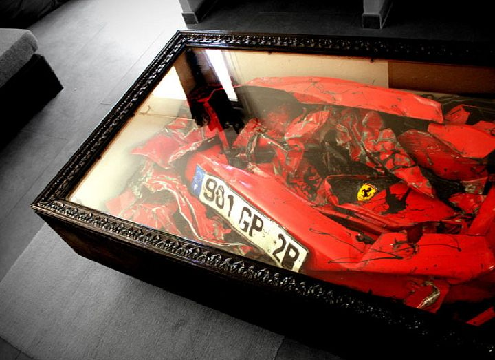 Ferrari coffee tableCoffe Tables, Coffee Tables, Ferrari Tables, Living Room, Men Fashion, Ferrari Coffe, Tables Center, Design, Crash Ferrari