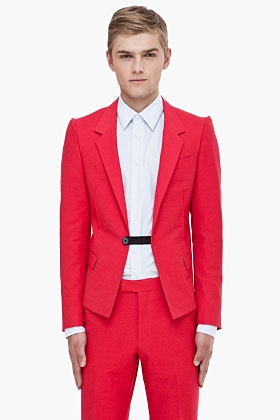 LANVIN Red Smoking Blazer.: Grade Teacher, But, Lanvin Red, Blazers 1748, Red Smoke, Lanvin Spring Summer, Lanvin Smoke, Smoke Blazers, Esqui Suits