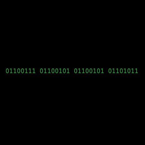Binary Code T-Shirt: geek