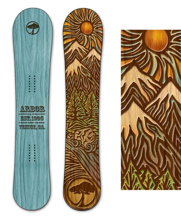 REI/Arbor Cascade Snowboard (2010/2011) on Behance
