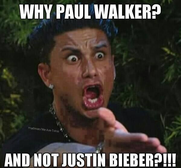 I  don't like the Paul walker jokes but this had a ring of truth about it