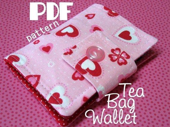 Tea Bag Wallet - PDF Sewing Pattern