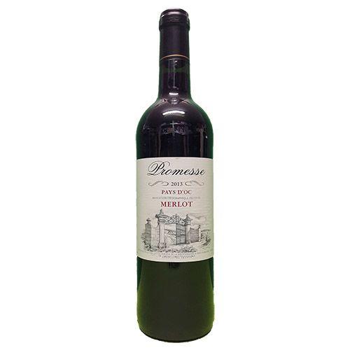 Quality Fruit Baskets. Promesse Merlot  Deze wijn is gemaakt van de enorm populaire Merlot druif. Donkerrood met iets paars in de rand. Fruitige geur met een verleidelijk aroma. Een smaak van rode vruchten zoals, bramen, kersen en aardbeien met indrukken van kruiden. De wijn is delicaat, zeer aangenaam en heeft een lange nasmaak met een goede balans...