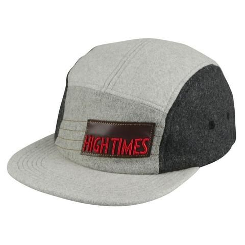 High Times® 5 Panel Hat - Gray Flannel - The Hippie House