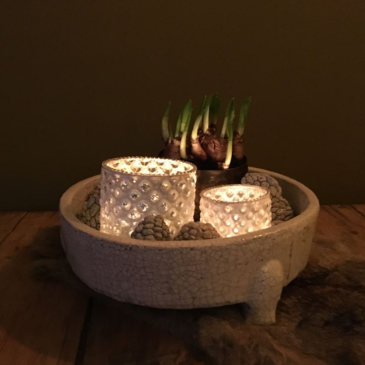 Brynxz schaal  met decoratie en vacht van Gnus wonen
