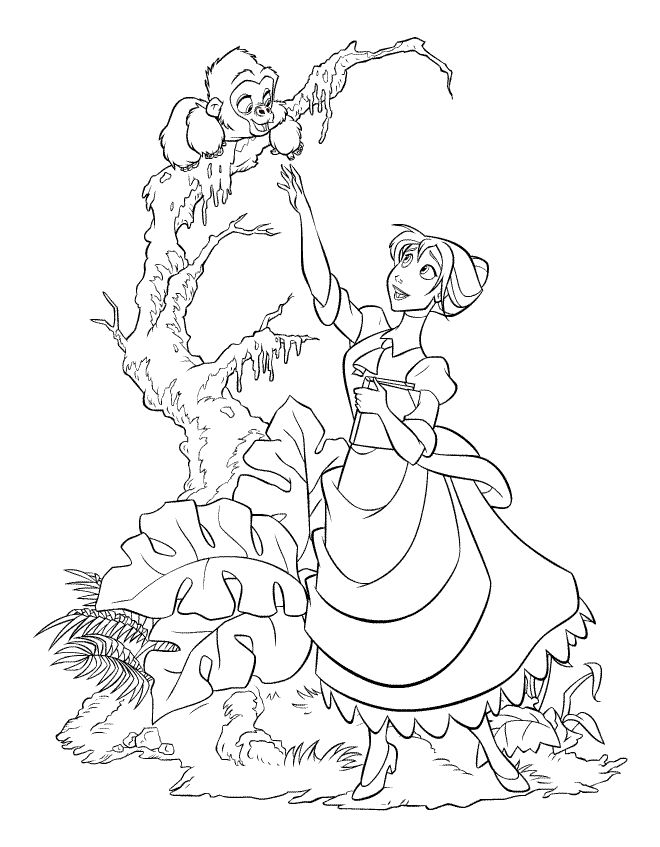 64 best tarzan colouring pages images on Pinterest | Coloring pages ...