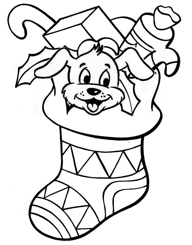 stocking coloring page printable - Stocking Coloring Page Printable