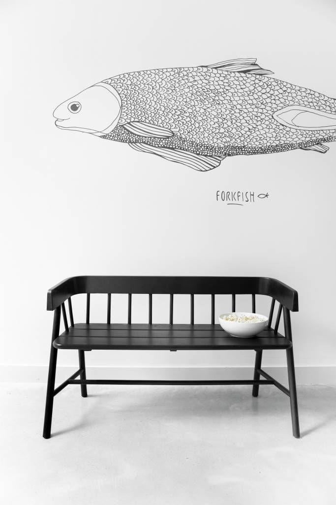 Now available in black. How cool! Stylish 2-Persons wooden bench by HK Living. Peppe him still with färbige pillow and it fits perfectly on the dining table! O